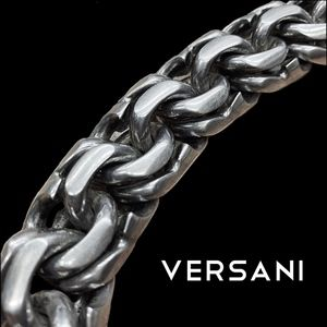 Versani Jewelry - VERSANI Heavy Sterling Silver Links Necklace